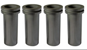 4 PCS Package 3 kilo capacity graphite melting crucible