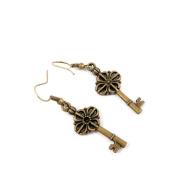 100 Pairs Fashion Jewellery Making Charms Earrings Backs Findings Arts Crafts Hooks Bulk Lots Wholesale Supplier D6YI3 Flower Key