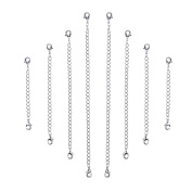 Outus 8 Pieces Stainless Steel Necklace Bracelet Extender Chain Set