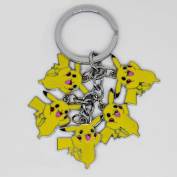 Pokemon - 5 Happy Pikachu Keychain