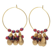 Beaded Hoop Earrings - Gold/Garnet - Exclusive Beadaholique Jewellery Kit