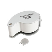 Z ZTDM 45X 25mm High-definition Optical Glass Lenses LED Lamp Jewellers Magnifier Magnifying Glass