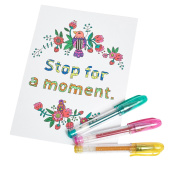 AmazaPens Mini Glitter Gel Colouring Pens, 20 Pack with Maximum Ink & Carry Case, Best for Purse or School Bag for Sparkle on the Go, Perfect Gift for Portable Colouring and Instant Inspiration