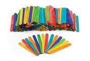 Large Coloured Wood Craft Sticks - 500 Pieces