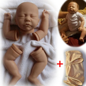 Unpainted Reborn Doll Kits(head,limbs and 50cm cloth body) DIY Lifelike Premie Boy Supplies Set