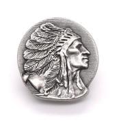 Chief Head Concho Right Facing Antique Nickel 2.5cm - 0.6cm 3666-21
