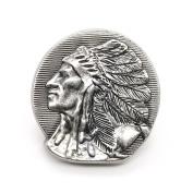 Left Chief Head Concho Antique Nickel 2.5cm - 0.6cm 3665-21