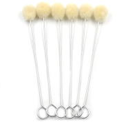 Bluemoona 20 Pcs - Wool Dauber With Metal Handle Leather Dyes Brush Sealers Bloves Tool Accessories