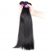 Hebe brazilian hair 4 bundles straight 20 22 24 70cm 400g 100% virgin brazilian human hair weave natural black colour