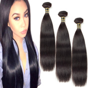 Uneed Hair 7a 8~70cm Brazilian Remy Straight Hair Weaves Unprocessed Virgin Human Hair Extension 3 Bundles/lot Mixed Length Natural Colour