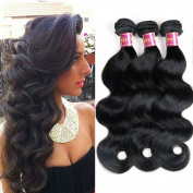 UNice 6A Grade Brazilian Body Wave Virgin Hair 3 Bundles 100% Human Hair Weft Extensions Natural Colour 95-100g/piece