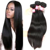 B & P Hair Brazilian Virgin Remy Straight Hair Weave Unprocessed Brazilian Human Hair Extension Silky Straight 3 Bundles 300g Natural Black Hair 10 12 36cm