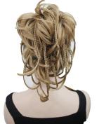 Strong Curly Synthetic Clip In Claw Ponytail Hair Extension Synthetic Hairpiece 130g with a jaw/claw clip