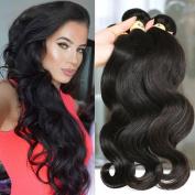 3PCS Brazilian Virgin Hair 7A Unprocessed Brazilian Body Wave Human Hair Weave 300g Human Hair Extensions (50cm 50cm 50cm ,Natural Colour) One Donor Virgin Hair