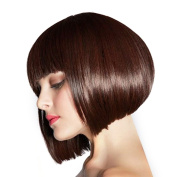 Styler Sexy Straight Bob Wigs Real Human Hair mixed Synthetic Memory Fibre