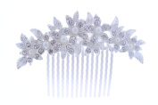 KimmyKu Pearl Bridal Hair Combs Handmade Crystal Pearl Wedding Headpieces Accessories