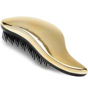 #1 BEST Detangling Brush - Lily England Detangler Hairbrush for Wet, Dry, Fine, Thick & Kids Hairbrush. No More Tangle! 100% Lifetime 'Happiness' Guarantee! Gold É