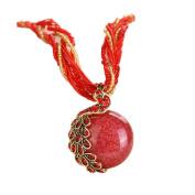 Doinshop Luxury Women's Bohemian Rhinestone Necklace Peacock Gem Pendant Statement