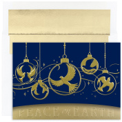 Masterpiece Studios Dove Ornaments, 16 Cards/16 Foil Lined Envelopes