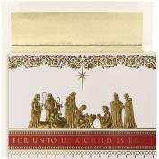 Masterpiece Studios Manger Scene, 16 Cards/16 Foil Lined Envelopes
