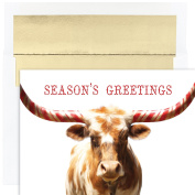 Masterpiece Studios Peppermint Longhorn, 18 Cards/18 Foil Lined Envelopes