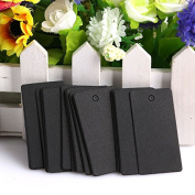 Zadaro 100Pcs Kraft Paper Rectangle Hang Tags Wedding Party Favour Label Price Card Gift with hole