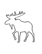 Pack of 3 Moose Stencils Cut from 4 Ply Mat Board, 11x14, 8x10 and 5x7
