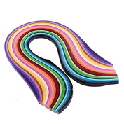 Zadaro Paper Quilling Set 720pcs Strips 5mm Width Mixed Colour For DIY Hand Craft 24 Colours