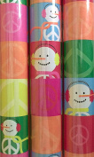 Peace Sign Snowman Christmas Holiday Gift Wrap 12sqm