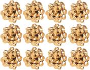 Decorative Confetti Gift Bows, Medium, Gold (25/pkg) Pkg/1