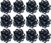 Decorative Confetti Gift Bows, Medium, Black (25/pkg) Pkg/1