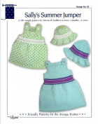 Design by Louise Knitting Pattern #55 Sally's Summer Jumper & Sun Bonnet 3mo-4yr