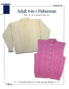 Design by Louise Knitting Pattern #56 Adult 4-In-1 Fisherman