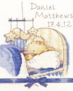 Bothy Threads Huggles Bear Bedtime Blue Design Counted Cross Stitch Kit 14 Count Aida