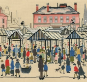 Bothy Threads Lowry Market Scene, Northern Town Counted Cross Stitch Kit
