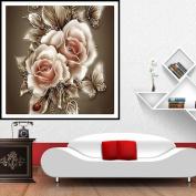 MEXUD-Hot 5D Retro Flower DIY Diamond Painting Cross Stitch Kit Embroidery Home Decoration