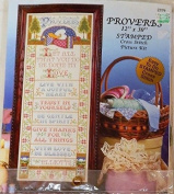 Proverbs by Joan Elliot Stamped Cross Stitch Kit 2379