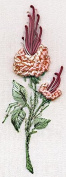 California Rosebud Peach - Edmar kit #1402, Brazilian embroidery KIT, White Fabric