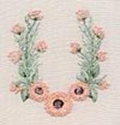 Geron Daisy - Edmar kit #5106, Brazilian embroidery KIT, Cream Fabric