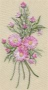 Geron Daisy Bouquet - Edmar kit #5102, Brazilian embroidery KIT, Cream Fabric