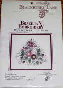 Ivo's Bouquet - Blackberry Lane Brazilian Embroidery kit with EdMar threads #103