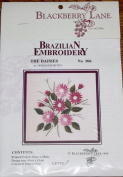 The Daisies - Blackberry Lane Brazilian Embroidery kit with EdMar threads #106