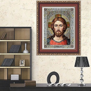 Zadaro DIY 5D Crystal Diamond Painting Religious Figure Embroidery Cross Crafts Stitch Kits Home Wall Decor