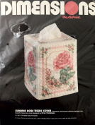 Dimensions Plastic Canvas Needlepoint Kit 2536 Summer Rose Tissue Cover