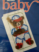 1991 Bernat Baby Plastic Canvas Needlepoint Kit #W26260 Baseball Bear Video Cover