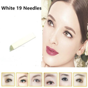 GD 19-Pin Permanent Makeup Manual Eyebrow Tattoo Needles Blade For 3D Embroidery Microblading Tattoo Pen Machine 50Pcs/lot