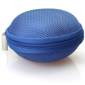 Earphone Storage Bag, FTXJ Colourful Mini Round Hard Storage Case for Headphone SD TF Cards