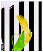 Positively Home PreppyBanana_3 Preppy Banana Watercolour on Wrapped Canvas, 60cm X 90cm ,,