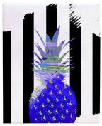 Positively Home PreppyPine_Purple_1 Preppy Pineapple Watercolour on Wrapped Canvas, 28cm X 36cm , Purple,28cm X 36cm