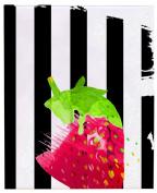 Positively Home PreppyStrawb_2 Preppy Strawberry Watercolour on Wrapped Canvas, 41cm X 50cm ,,